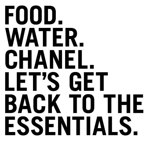 Let's get back to the essentials...