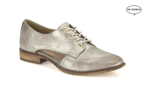 Clarks cut out metallic brogues