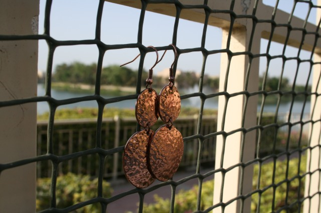 Miss Easy Elegance: Copper Earrings 3.